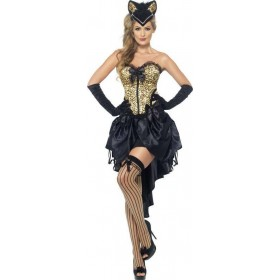 Ladies Burlesque Kitty Costume Burlesque Outfit
