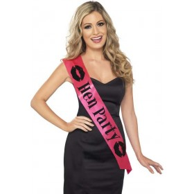 Ladies Hen Party Sash Hen & Stag - (Pink)