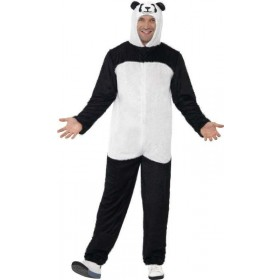 Mens Panda Costume Animal Outfit (Black)