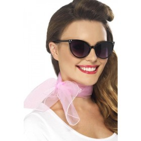 Ladies 50'S Neck Scarf Hats - (Pink)