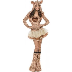 Ladies Fever Giraffe Costume Animal Outfit