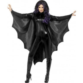 Adult Unisex Vampire Bat Wings Halloween - (Black)
