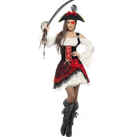 Ladies Glamorous Lady Pirate Costume Pirates Outfit