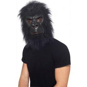 Mens Gorilla Mask Masks - (Black)