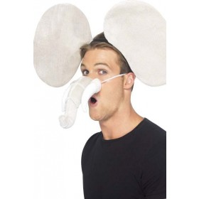 Adult Unisex Elephant Kit Disguises - (Grey)