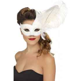 Ornate Columbina Eyemask Eyemasks - (White)