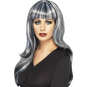 Ladies Sinister Siren Wig Halloween Wigs - (Black)