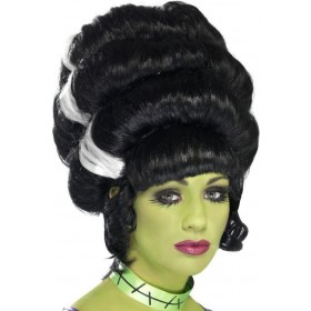 Ladies Pin Up Frankie Wig Halloween Wigs - (Black)