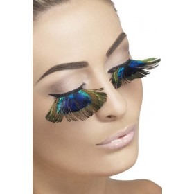Ladies Eyelashes, Peacock Feathers Eyelashes