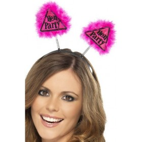 Hen Party Warning Boppers Hen & Stag - (Pink)
