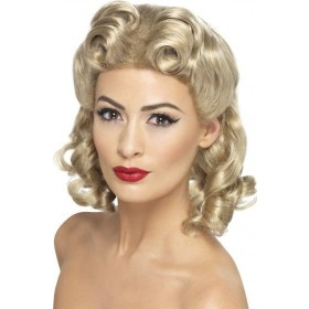 Ladies 40'S Sweetheart Wig Wigs - (Blonde)