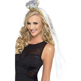 Hen Night Ring Headband Hen & Stag - (White)