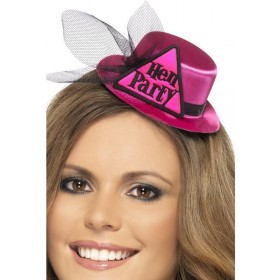Ladies Hen Party Hat Hen & Stag - (Pink)