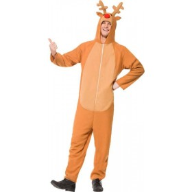 Mens Reindeer Costume Christmas Outfit (Brown)