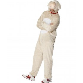 Adult Unisex Lamb Costume Animal Outfit - Unisex Large