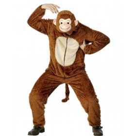 Adult Unisex Monkey Costume Animal Outfit - Unisex Large