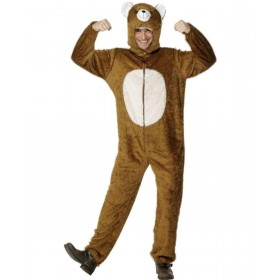 Adult Unisex Bear Costume Animal Outfit - Unisex Large