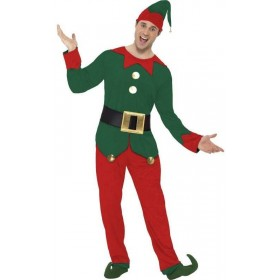 Mens Elf Costume Christmas Outfit - Chest 46-48
