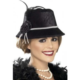Ladies 20'S Hat Hats - (Black)