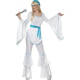Ladies Super Trooper Costume Music Outfit (White)