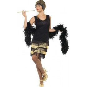Ladies 1920'S Fringed Flapper Costume 1920'S Outfit