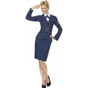 Ladies Ww2 Air Force Female Captain Army Outfit (Blue)