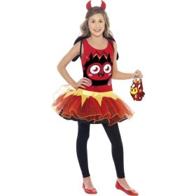 Girls Moshi Monsters Diavlo Costume Cartoon Outfit