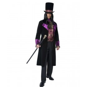 Mens The Gothic Count Costume Halloween Outfit - Chest 46-48