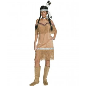 Ladies Authentic Western Indian Lady Costume Cowboys/Indians