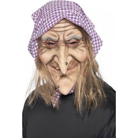 Mens Old Witch Mask Halloween Masks