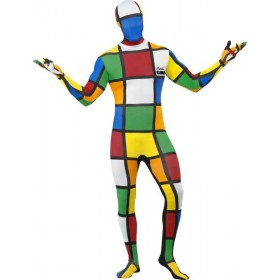 Mens Rubik'S Cube Second Skin Costume Game Outfit
