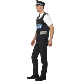 Mens Policeman Instant Kit Cops/Robbers Outfit (Black)