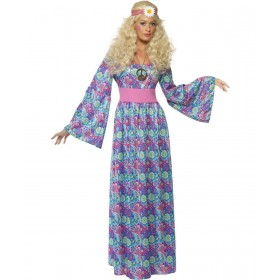 Ladies Flower- Costume Hippy Outfit - Size 20-22