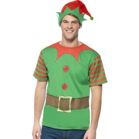 Mens Elf Instant Kit Christmas Outfit