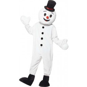 Mens Snowman Mascot Costume Christmas Outfit - One Size