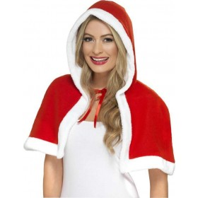 Ladies Miss Claus Mini Cape Christmas - (Red)