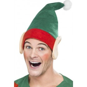 Adult Unisex Little Helper Hat Christmas Hats - (Green)