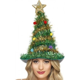 Adult Unisex Christmas Tree Hat Christmas Hats