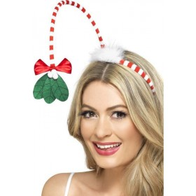 Adult Unisex Mistletoe Kisses Headband Christmas Other