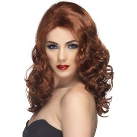 Glamorous Wig (Fairy Tales , 1980S Fancy Dress Wigs) - Auburn