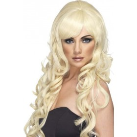 Pop Starlet Wig (Christmas Wigs) - Blonde