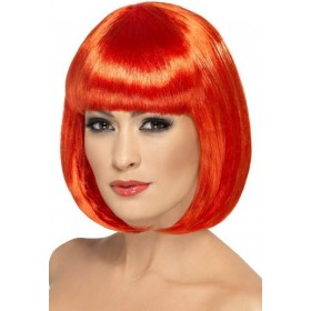 Partyrama Wig, 12 Inch Wigs - (Red)