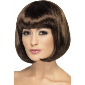 Party Wig, 12 Inch Wigs - (Brown)