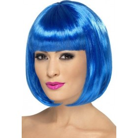 Party Wig, 12 Inch Wigs - (Blue)