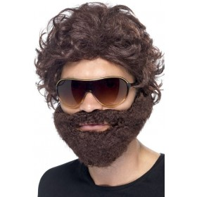 Mens Stag Do Kit Wigs - (Brown)
