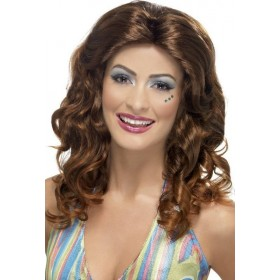 Mens Dancing Queen Wig Wigs - (Brown)