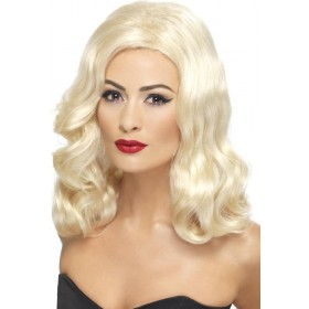 Ladies 20'S Luscious Long Wig Wigs - (Blonde)