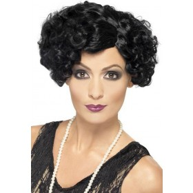 Ladies 20'S Flirty Flapper Wig Wigs - (Black)