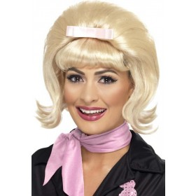 Ladies 50'S Flicked Beehive Bob Wigs - (Blonde)