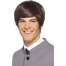 Mens 60'S Male Mod Wig Wigs - (Brown)